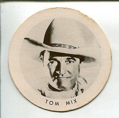 Tom Mix Dixie Cup Lid 1940's-2 1/4-VG
