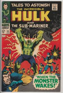 Tales to Astonish #99 (Jan-68) VF/NM High-Grade Incredible Hulk, Namor