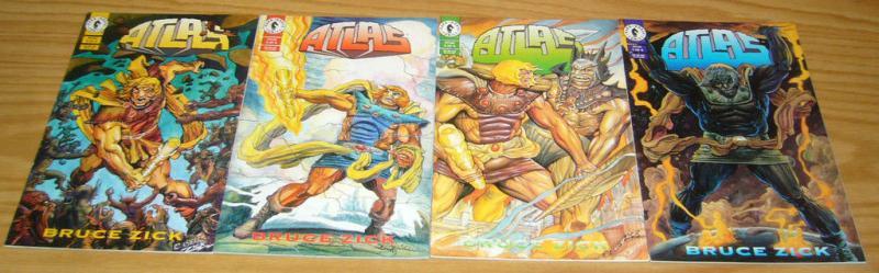 Atlas #1-4 VF/NM complete series BRUCE ZICK mythology 1994 dark horse set 2 3