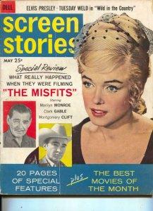 Screen Stories-Marilyn Monroe-Elvis-Sidney Poitier-May-1961