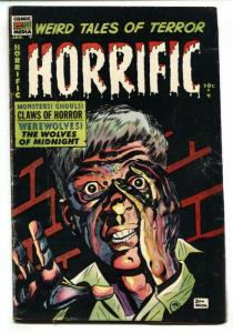 HORRIFIC #9 1954-COMIC MEDIA-WEREWOLF-MONSTERS-DON HECK-PRE-CODE-vg