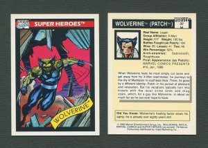 1990 Marvel Comics Card  #37 (Wolverine) / MINT