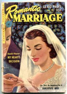 Romantic Marriage #11 1952- Golden Age Romance Bride cover G