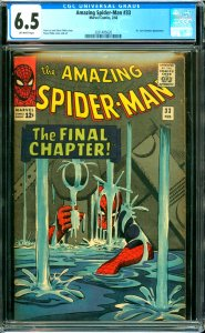 Amazing Spider-Man #33 CGC Graded 6.5 Dr, Curt Connors appearance