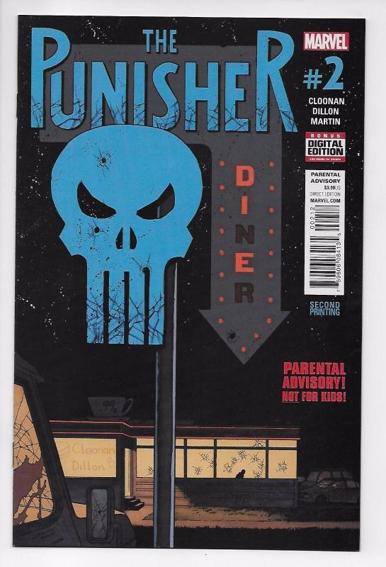Punisher #2 2nd Printing Variant (Marvel, 2016) NM