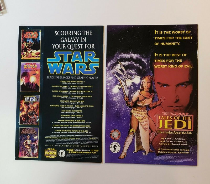 Star Wars Shadows Of The Empire #1-6 Complete Set #4 is Rare Newstand Variant