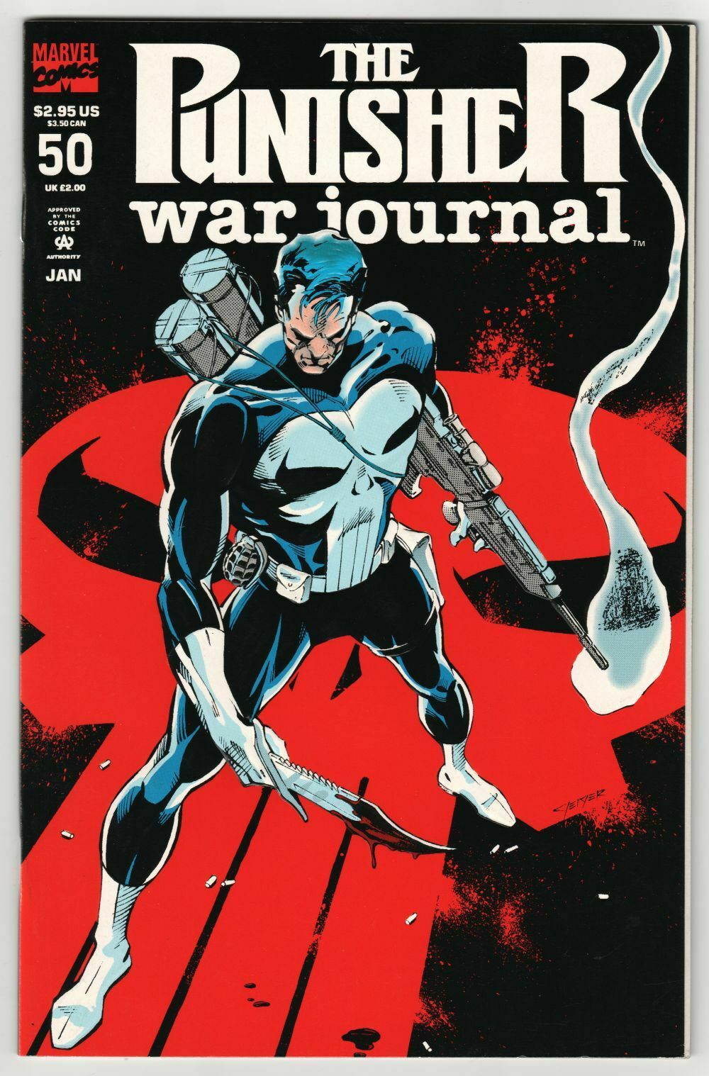 Punisher War Journal #32 FN 1991 Stock Image