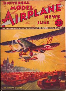 Model Airplane News 6/1934-Russian D-1 fighter plane-Kotula-VG/FN