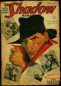 SHADOW 1937 AUG 1-SHADOWN UNMASKS-RARE PULP FR
