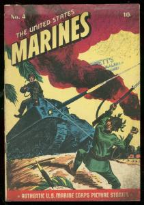 UNITED STATES MARINES #4 1944-WWII-TANK COVER-SAIPAN VG