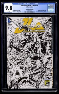 Justice League Of America (2015) #1 CGC NM/M 9.8 Convention Sketch Edition!