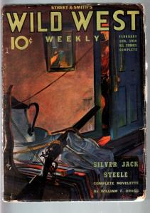 WILD WEST WEEKLY 2/18/1939-WESTERN PULP-SILVER JACK VG