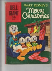 Dell Giant #39 VG walt disney's merry christmas - donald duck - silver age 1960