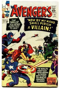 Avengers #15 1965- Marvel Silver Age- High grade copy VF-