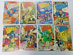 Legion of Super-Heroes run #259 to #266 2nd Series 8 diff books avg 6.0 (1980)