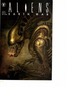 Lot Of 2 Comic Books Dark Horse Aliens Earth War #1 and Aliens #3  MS9