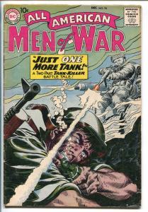 ALL-AMERICAN MEN OF WAR #76-1959-WWII-DC-SILVER AGE-TANK-KILLER-KUBERT-vg+