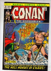 Conan the Barbarian #15 (May-72) VF/NM High-Grade Conan the Barbarian