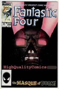 FANTASTIC FOUR #268, VF+ John Bryne,1961, Thing, Dr Doom, more FF in store