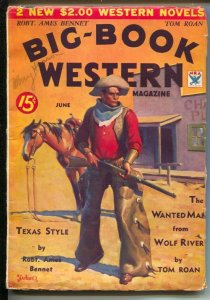 Big-Book Western #4 3/1934-4th issue-Iconic cover art by Gerald C Delano-Wild...