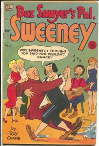 Buz Sawyer's Pal Sweeny #5 1949-Standard-Roy Crane-weird story-terrific art-VG-