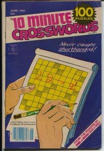 10 Minute Crossword 6/1982-Charlton-similar in size to Charlton Comic Books-VG