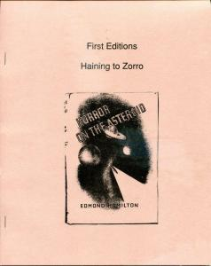 HAINING to ZORRO, VF/NM, 1988, Ltd, Softcover, Joseph Bell, A 1000 and 1 Night