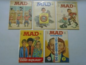 60's MAD Magazine lot of 5 different issues