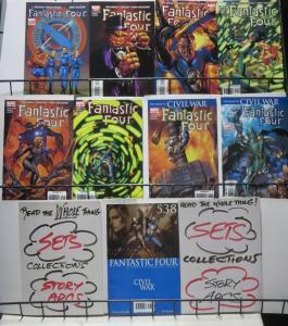FANTASTIC FOUR by STRACZYNSKI & McKONE! 9 books, VF/+!CIVIL WAR Dr. Doom!