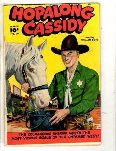 Hopalong Cassidy # 29 FN- Fawcett Golden Age Comic Book Cowboy Western Horse JL2
