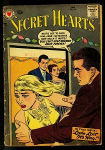 Secret Hearts #44 1958 - DC Romance - Love triangle -PR/FR