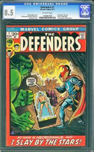 Defenders #1 (Marvel, 1972) CGC 8.5 VF+ - KEY