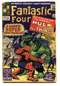 FANTASTIC FOUR #25 1964-MARVEL-HULK-THING-JACK KIRBY-G