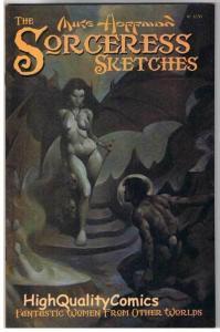 SORCERESS SKETCHBOOK 1, NM, Good girl, Mike Hoffman, 2002, more indies in store