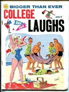 College Laughs 7/1962-Marvel-Vic Martin-Severin-Wenzel-Wyma-swim suit-G