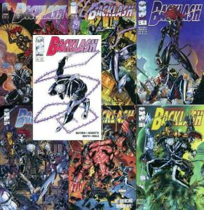 BACKLASH (1994 IM) 1A,1B,2-6 complete 6-part story arc!