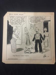 Ed Dodd Back Home Again Original Newspaper Comic Art 11/10/38