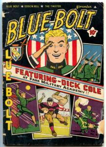 Blue Bolt Vol 2 #6 1942-DICK COLE---Sub-Zero-Sgt Spook -White Rider VG-