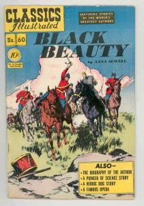 CLASSICS ILLUSTRATED #60 HRN 62 BLACK BEAUTY .1949. NICE 1st - VF-