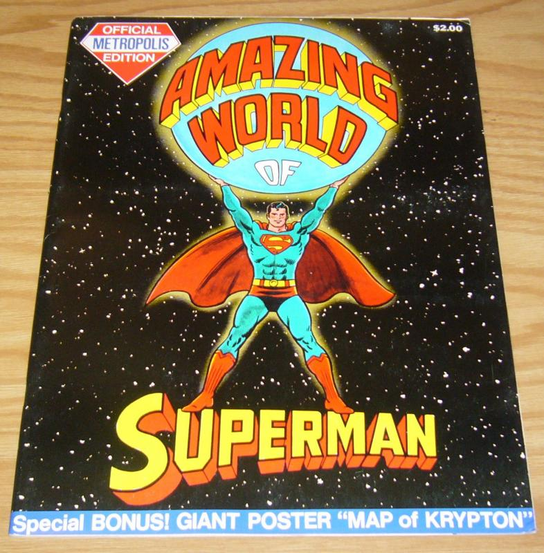 Amazing World of Superman: Metropolis Edition #1 FN dc treasury w/krypton poster