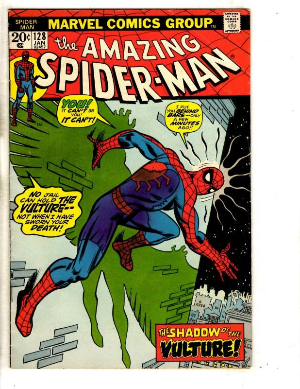 Amazing Spider-Man # 128 VF Marvel Comic Book Goblin Vulture Avengers CR56B