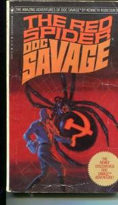 DOC SAVAGE-THE RED SPIDER-#95-ROBESON-G/VG-BOB LARKIN COVER-1ST EDTION G/VG