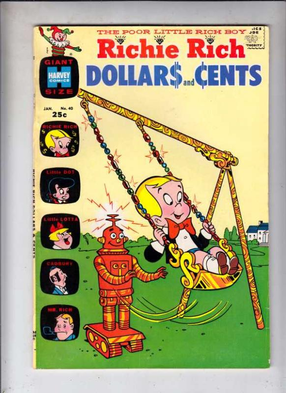 Richie Rich Dollars and Cents #40 (Jan-71) VF High-Grade Richie Rich