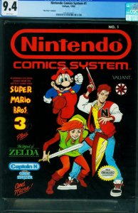 Nintendo Comics System #1 CGC 9.4 1990 HTF NO PRICE VARIANT 2051413003