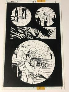 Batman 567 Interior Original Art Damian Scott 1st Cassadra Cain 1/2 Splash Pg 9