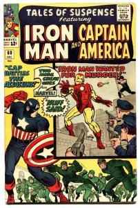 TALES OF SUSPENSE #60 comic book-1964-Captain America-2ND HAWKEYE FN+