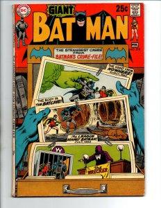 Batman #218 - Strangest Cases from Batman's Crime Files - 1966 - FN/VF
