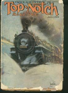 TOP-NOTCH PULP 1924 JAN 1 TRAIN COVER STREET & SMITH G/VG