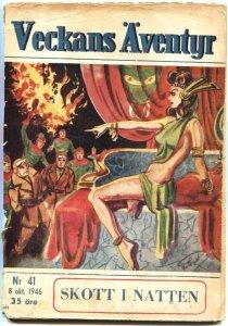 VECKANS AVENTYR #41-1946-SUPERMAN-BATMAN-POPEYE-JUNGLE JIM-PULP THRILLS