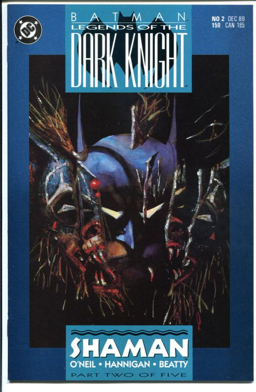 BATMAN: LEGENDS OF THE DARK KNIGHT #2, NM, Shaman, 1989, more BM in store